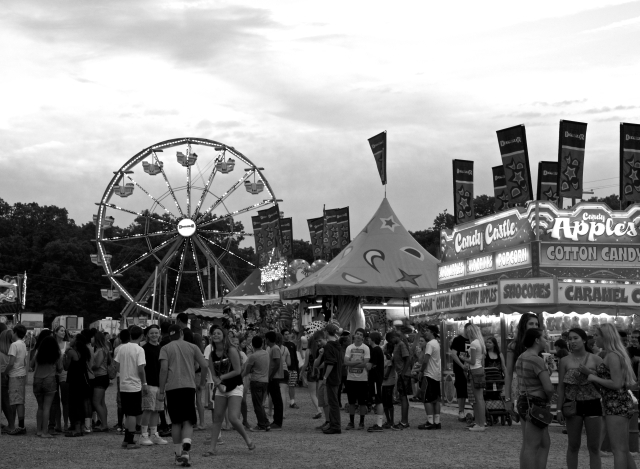 At the Fair in B&W