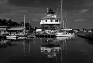 Drum Point in Black and White